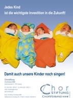 """Chorstiftung, Anzeige """"Säugling"""", 1/1 Seite"""