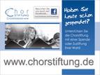 """Chorstiftung, Anzeige """"Spenden 2"""", 1/2 Seite"""